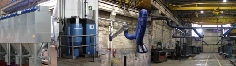 Õhupuhastajad – tööstuslikud süsteemid keevitussuitsu jaoks FILTAIR-WELD